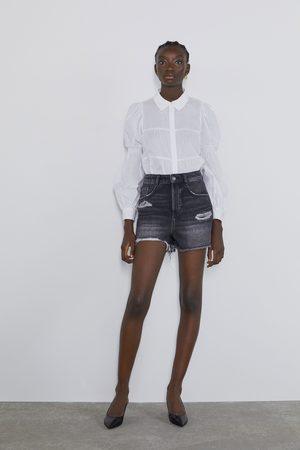 Zara Shorts denim strappi