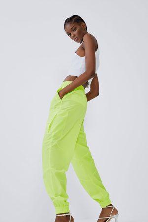 Zara Pantaloni jogger nylon