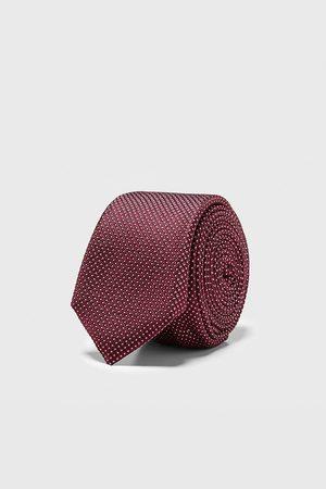 Zara Cravatta stretta jacquard geometrico