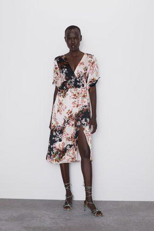 Zara Vestito con stampa floreale e volant