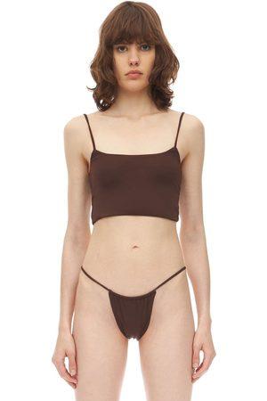 AEXAE Crop Top Bikini In Lycra