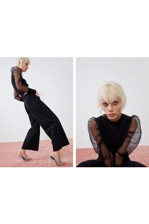 Zara Jeans culotte hi rise