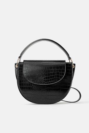 Zara Borsa a tracolla ovale con stampa animalier