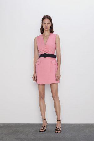 Zara Vestito blazer con cintura