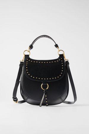 Zara Borsa a tracolla equestre con borchie
