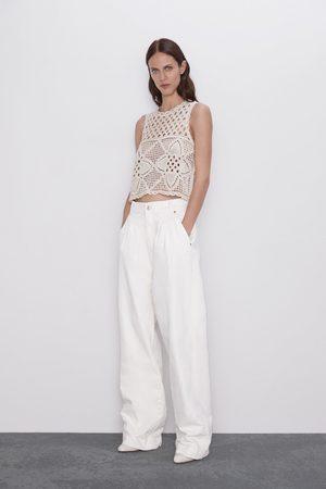 Zara Top in maglia aperta