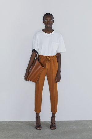 Zara Pantaloni paper bag con cintura