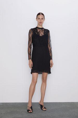 Zara Vestito con pizzo abbinato