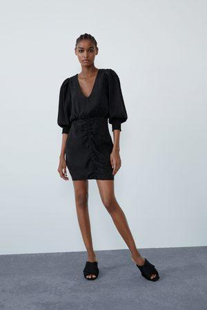 Zara Vestito voluminoso arricciato