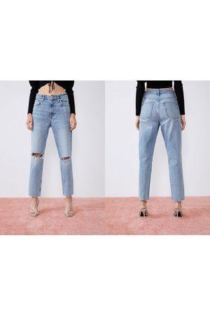 Zara Jeans mom fit strappi