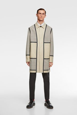 Zara Trench patchwork a quadri traveler