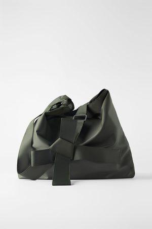 Zara Maxi borsa a secchiello xxl tessuto tecnico