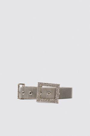 grande sconto a piedi a immagini dettagliate Cintura con fibbia decorata con gioielli