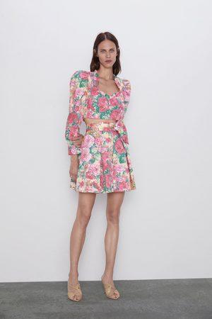 Zara Minigonna con stampa floreale