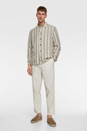 Zara Giacca-camicia rustica a righe