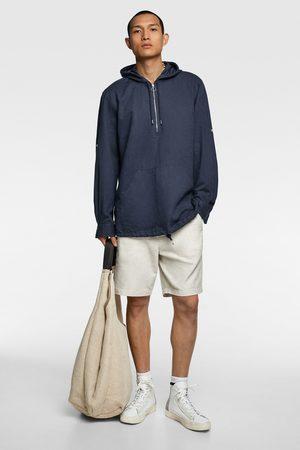 Zara Camicia rustica con cappuccio