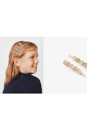 Zara Confezione di due fermagli cuori brillanti