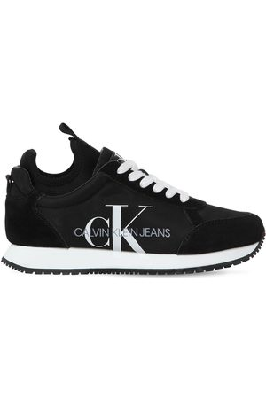 "Calvin Klein Sneakers ""josslyn"" In Nylon E Camoscio 20mm"