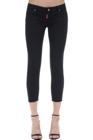 Dsquared2 Jeans Vita Media Twiggy Cropped In Denim