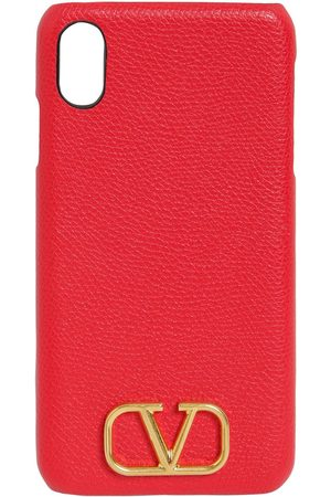 VALENTINO GARAVANI Donna Cellulare - Cover Iphone Xs In Pelle Martellata