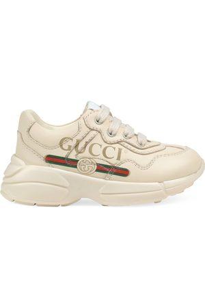 Gucci Sneaker Rhyton in pelle con logo