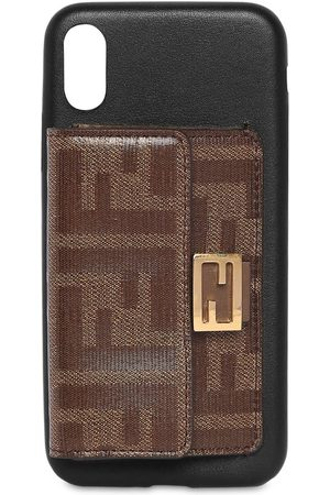 Fendi Cover Iphone X In Pelle