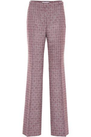 GABRIELA HEARST Pantaloni Torres a quadri in lana e angora