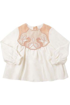 Chloé Camicia In Seta Con Ricami