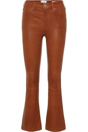 Frame Pantaloni Le Crop Mini Boot in pelle
