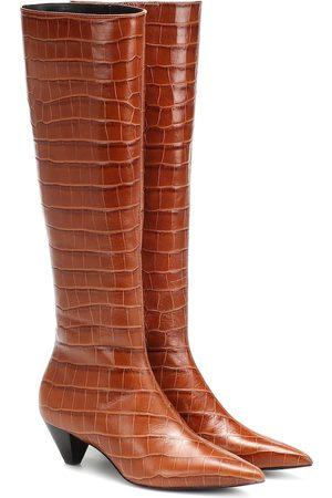 Mercedes Castillo Donna Stivali - Stivali Donique in pelle a stampa cocco