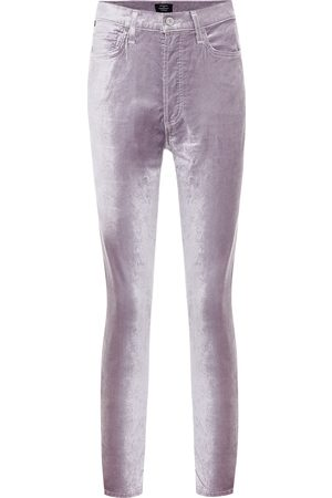 Citizens of Humanity Pantaloni skinny Olivia in velluto