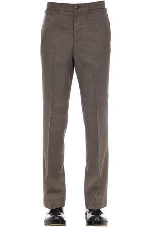 Burberry Pantaloni Slim Fit In Misto Cotone Check