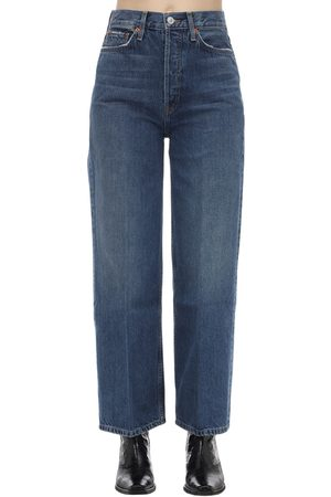 "RE/DONE Donna Jeans - Jeans ""60s Extreme Wide Leg"" In Denim Di Cotone"