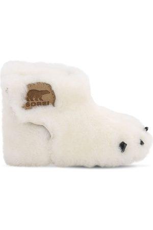 """sorel Stivali """"bear"""" In Shearling"""