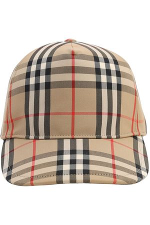 Burberry Cappello Baseball In Tela Check Vintage