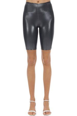 VELVET SOCK'S BY SIMONE WILD Shorts Cycling In Techno Tessuto Metallizzato