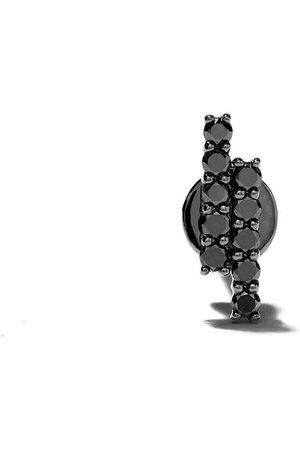 ALINKA Orecchino a bottone MALA in oro bianco 18kt con diamanti