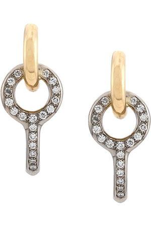 Charlotte Chesnais Donna Orecchini - Orecchini Twin Pave in bianco e giallo 18kt con diamanti