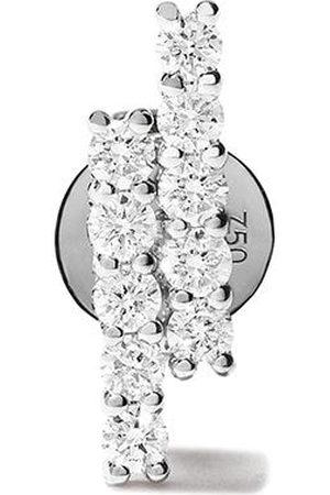 ALINKA Donna Orecchini - Orecchino a bottone Aria in oro bianco 18kt con diamanti
