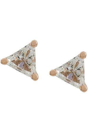 DELFINA DELETTREZ Donna Orecchini - Orecchini a bottone Dots Solitare Trillion in 18kt con diamanti