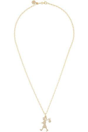 Karen Walker Collana con pendente Runaway Girl in oro 9 kt - Effetto metallizzato