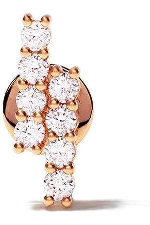 ALINKA Orecchino a bottone RIVIERA in rosa 18kt con diamanti