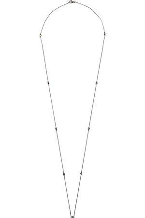 LOQUET Collana in oro nero 14kt e zaffiri - Effetto metallizzato