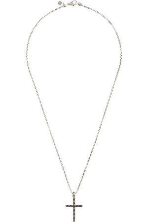 John Hardy Collana Classic Chain Jawan in argento con pendente a croce - Effetto metallizzato