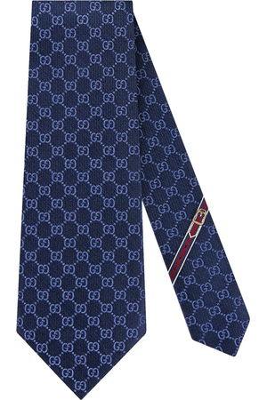 Gucci Cravatta con motivo doppia G