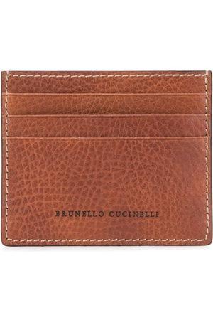 Brunello Cucinelli Portacarte con logo goffrato