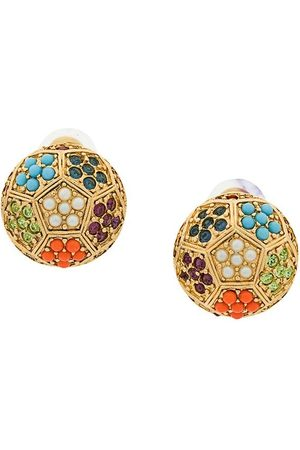 Susan Caplan 1980s Vintage D'Orlan Colourful Round Earrings