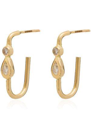 JACQUIE AICHE Orecchini con design a goccia 14kt - YELLOW GOLD