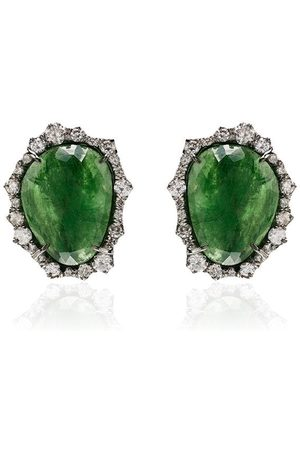 KIMBERLY MCDONALD Orecchini in oro bianco 18kt con diamanti - GREEN