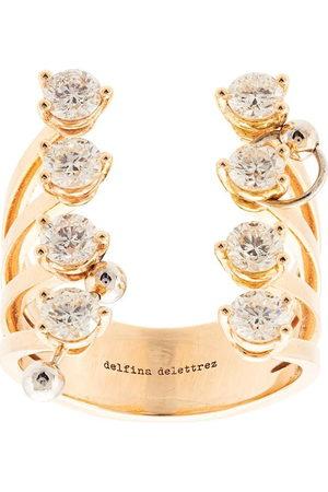 DELFINA DELETTREZ Anello in oro giallo 18kt e diamanti